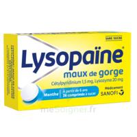 LysopaÏne Comprimés à Sucer Maux De Gorge Sans Sucre 2t/18 à VALENCE