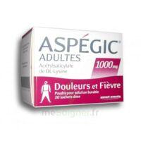 ASPEGIC ADULTES 1000 mg, poudre pour solution buvable en sachet-dose 20 à VALENCE