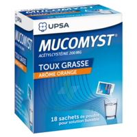 MUCOMYST 200 mg Poudre pour solution buvable en sachet B/18 à VALENCE