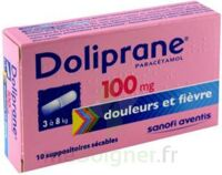 DOLIPRANE 100 mg Suppositoires sécables 2Plq/5 (10) à VALENCE