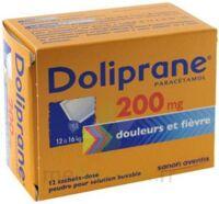 DOLIPRANE 200 mg Poudre pour solution buvable en sachet-dose B/12 à VALENCE