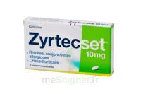 ZYRTECSET 10 mg, comprimé pelliculé sécable à VALENCE
