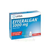 Efferalgan 1000 mg Comprimés pelliculés Plq/8 à VALENCE