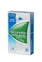 NICORETTE 2 mg Gom à mâcher médic sans sucre menthe glaciale Plq/30gom à VALENCE