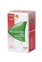 Nicorette 2 mg Gomme à mâcher médicamenteuse sans sucre fruits Plq/105 à VALENCE