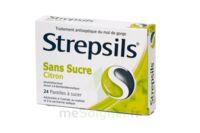 STREPSILS CITRON SANS SUCRE, pastille édulcorée à l'isomalt, au maltitol et à la saccharine sodique à VALENCE