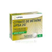 Citrate De Bétaïne Upsa 2 G Comprimés Effervescents Sans Sucre Menthe édulcoré à La Saccharine Sodique T/20 à VALENCE
