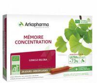 Arkofluide Bio Ultraextract Solution buvable mémoire concentration 20 Ampoules/10ml à VALENCE