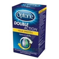 Optone Double Action Solution Oculaire Yeux Irrités Fl/10ml à VALENCE