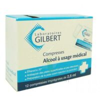 Alcool A Usage Medical Gilbert 2,5 Ml Compr Imprégnée 12sach à VALENCE