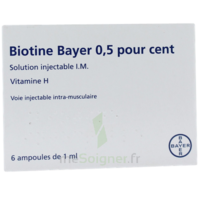 BIOTINE BAYER 0,5 POUR CENT, solution injectable I.M. à VALENCE