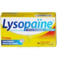 LYSOPAÏNE Comprimés à sucer maux de gorge fraise sans sucre 2T/18 à VALENCE
