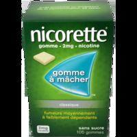 NICORETTE 2 mg Gom à mâcher médic sans sucre menthe fraîche Plq/105gom à VALENCE