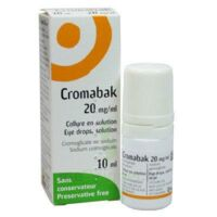 CROMABAK 20 mg/ml, collyre en solution à VALENCE