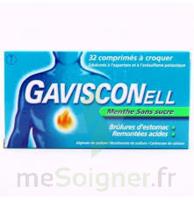 Gavisconell Coprimés à Croquer Sans Sucre Menthe édulcoré à L'aspartam Et à L'acésulfame Potas Plq/24 à VALENCE