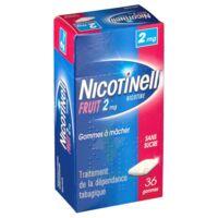 NICOTINELL FRUIT 2 mg SANS SUCRE, gomme à mâcher médicamenteuse Plaq/36gom à VALENCE