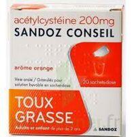 Acetylcysteine Sandoz Conseil 200 Mg Glé Solution Buvable En Sachet-dose 20sach/1g à VALENCE