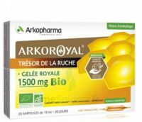 Arkoroyal Gelée royale bio 1500 mg Solution buvable 20 Ampoules/10ml à VALENCE