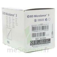 Bd Microlance 3, G22 1, 0,7 Mm X 25 Mm, Noir  à VALENCE