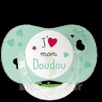 """Luc Et Léa Sucette Physiologique +6mois Spécial Bébé Allaité """"j'aime Mon Doudou"""" à VALENCE"""