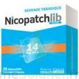 NICOPATCHLIB 14 mg/24 h Dispositifs transdermiques B/28 à VALENCE